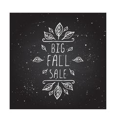 Big Fall Sale - typographic element vector image