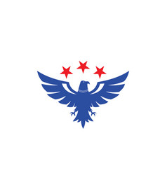 bird eagle star logo vector image