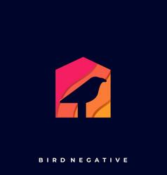 Bird house template vector