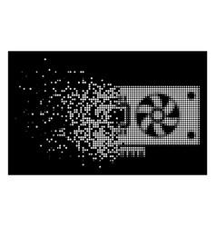 Bright dissolved dot halftone video accelerator vector