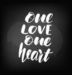 chalkboard blackboard lettering one love vector image