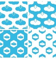 Cloud download patterns set vector