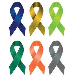 Colorful Ribbons Set5 vector