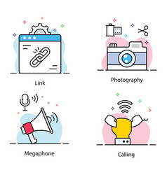 Communication flat pack vector