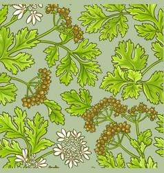 Coriander pattern vector