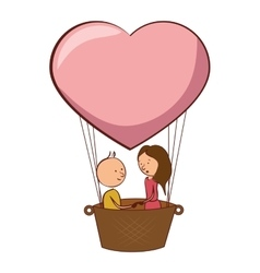 couple love card icon vector image