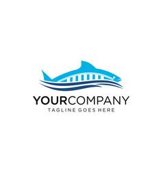 Creative fish for logo design editable vector