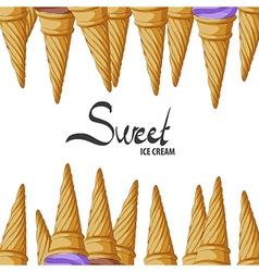 Crunchy waffle cone vector image
