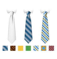 Customizable neckties templates vector