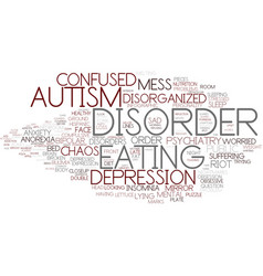 Disorder word cloud concept vector