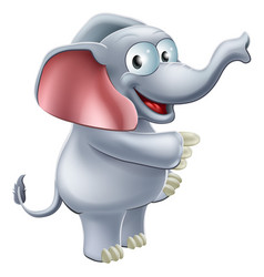 elephant pointing vector image