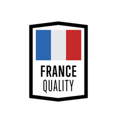 france quality isolated label for products vector image