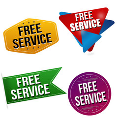 free service sticker or label set vector image