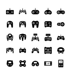 gamepads icon set in flat style symbols vector image