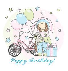 happy birthday color set vector image