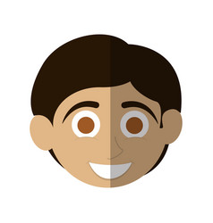 Happy smiling boy icon image vector