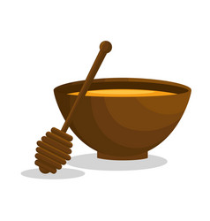 honey spa therapy icon vector image