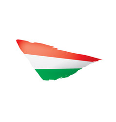hungary flag on a white vector image