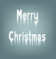 Ice lettering merry christmas vector