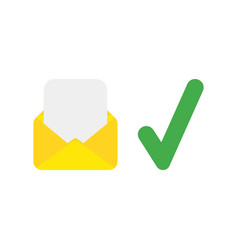Icon concept of mail envelope and blank paper vector