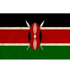 Kenya paper flag vector image