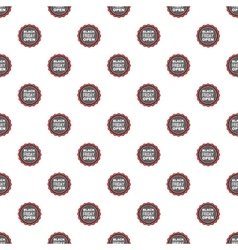 Label black friday open pattern cartoon style vector