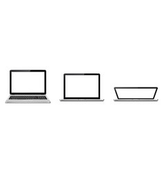 Laptop-open and closed lid vector
