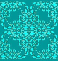 Light turquoise elegance paisley seamless pattern vector