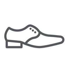 man shoes line icon clothes and footwear formal vector image