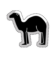 Manger camel figure silhouette icon vector