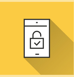 mobile security - icon for graphic and web design vector image