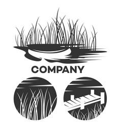 Modern boat logo vector