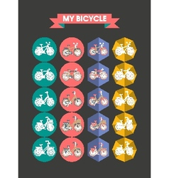 Modern Icons Bicycle Flat vector image