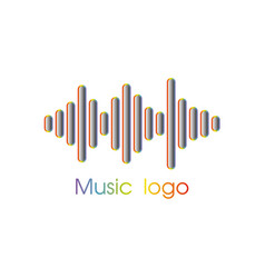 music player logo vector image