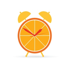 orange clock vector image