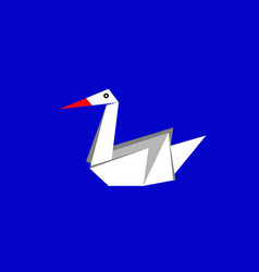 origami white paper swan vector image