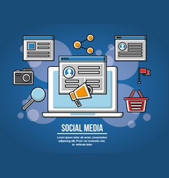people social media networks vector image