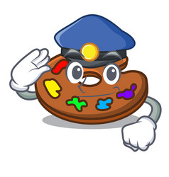 police palette character cartoon style vector image
