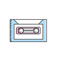 retro cassete to listen kind music vector image