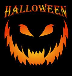 Scary halloween background creepy grin concept vector