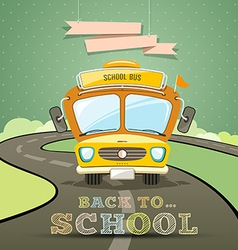 School bus concept design background vector image