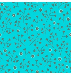 Seamless floral pattern with small flowers Floral vector image