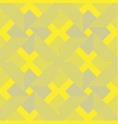 Seamless lines pattern in yellow and gray color vector