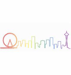 Seattle gay-friendly skyline vector