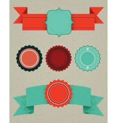 set retro design elements vector image