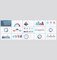 set turquoise grey pink blue and purple vector image
