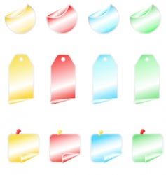 shining stickers vector image