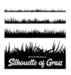 silhouette of grass of different heights vector image