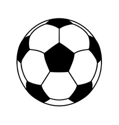 soccer ball or football ball shape icon vector image