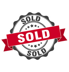 Sold stamp sign seal vector